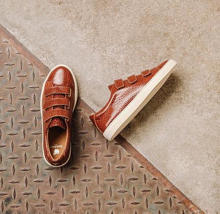 Sneakers cognac croco