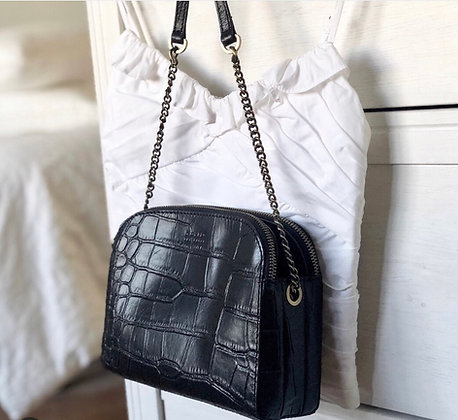 Sac croco black noir