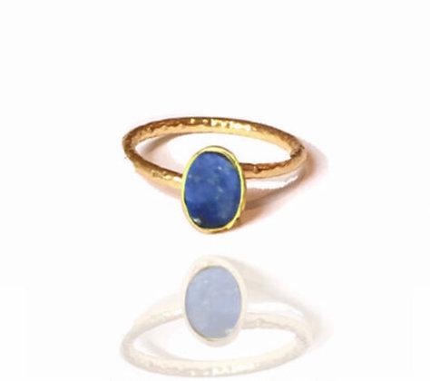 Bague pierre bleu saphir