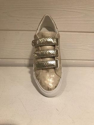 Sneakers dorées scratch croco