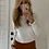 Thumbnail: Pull blanc jolis détails