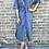 Thumbnail: Robe chemisier bleue
