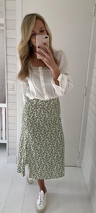 Jupe midi fleurie