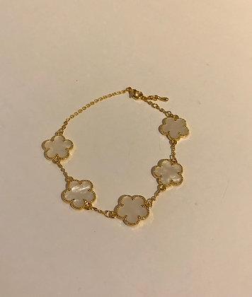 Bracelet plusieurs médaillons nacrés