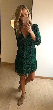 Robe courte marine et verte