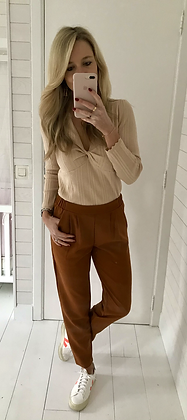 Pantalon fuide camel
