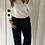 Thumbnail: Pantalon fuide finement rayé