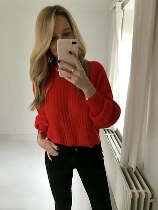 Pull rouge orangé