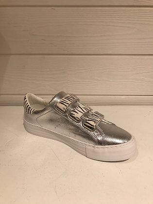 Sneakers silver scratch zèbre