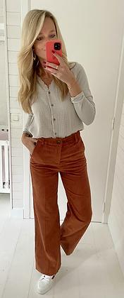 Pantalon velours terracotta