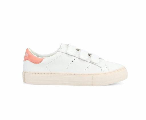 Sneakers white & pêche