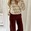 Thumbnail: Pantalon velours bordeaux