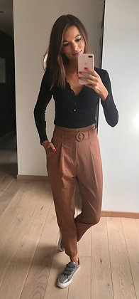 Pantalon camel taille haute