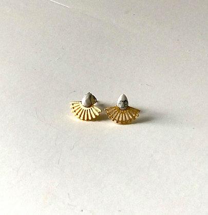 Petites boucles d'oreilles marbrées
