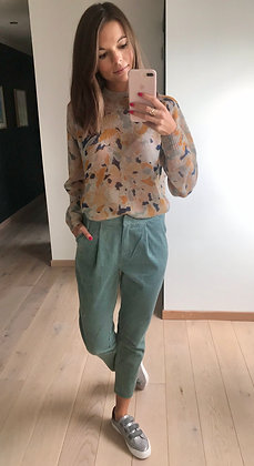 Pantalon velours vert
