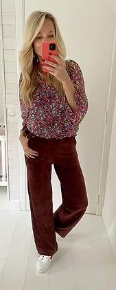 Pantalon velours bordeaux