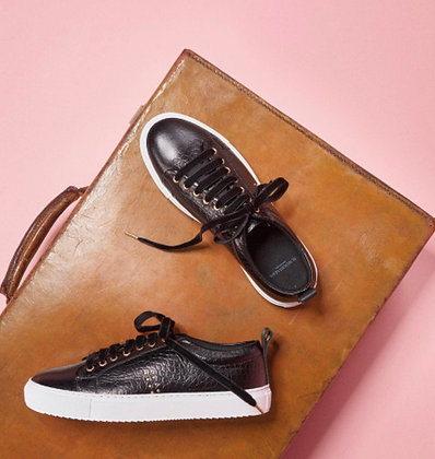 Sneakers noir croco