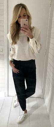 Pantalon fuide marine