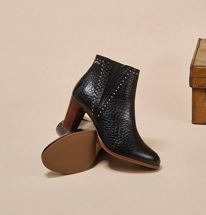 Boots cuir croco