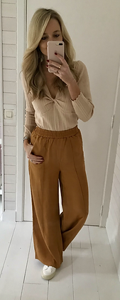 Pantalon large terracotta