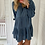 Thumbnail: Robe courte bleu métallique