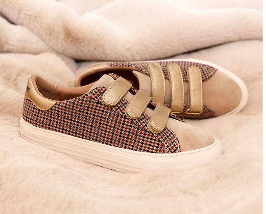Sneakers à imprimé pied de poule