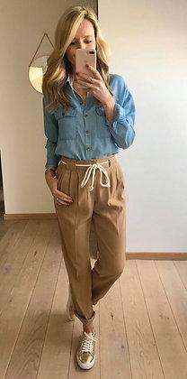 Pantalon fluide beige