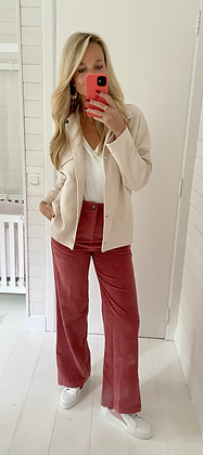 Pantalon velours rose