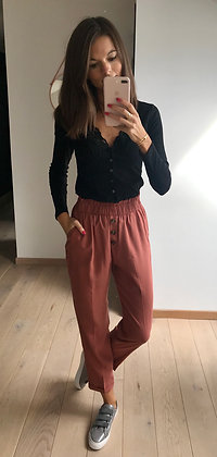 Pantalon camel rosé fluide