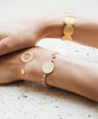 Bracelet chaine médaillon et perles