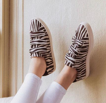 Sneakers zèbre