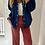 Thumbnail: Pantalon velours rose