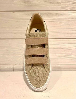 Sneakers reptile champagne sablé