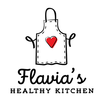 Logo Flavias Healthy Kitchen - The secret ingredient is always love