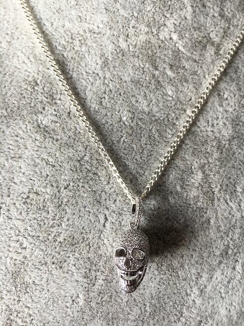 """""""Iced skull"""" Srebro 925"""