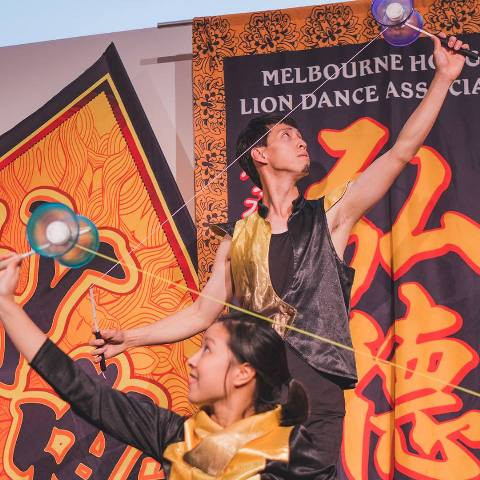 KITA扯鈴雙人組Max和Candy空竹表演精采,受各方邀請演出,引領中國傳統文化。Our very own popular Diabolo Duo Max & Candy were invi