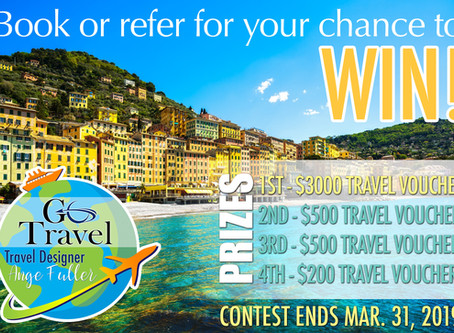 Want a chance to win your travel?