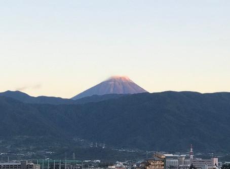 山梨県から眺めるフジヤマ!