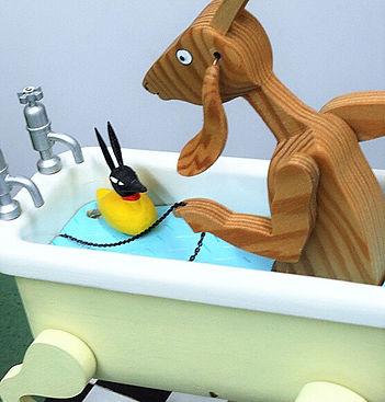 オートマタ作品案内|ヤギさんお風呂に入る|MOLEN|モーレン