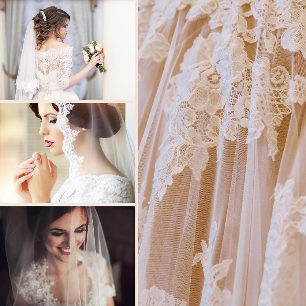 Beautiful wedding veils