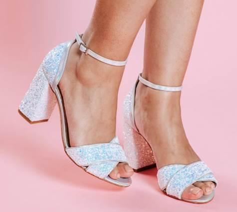 Glittered Block Heels