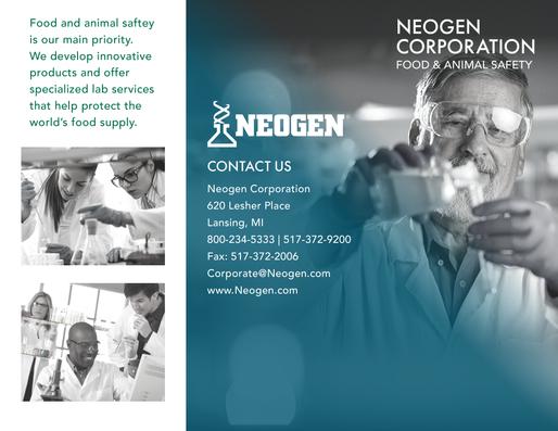 Graphic Design - Neogen Company Brochure