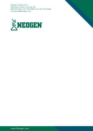 Graphic Design - Neogen Professional Letterhead