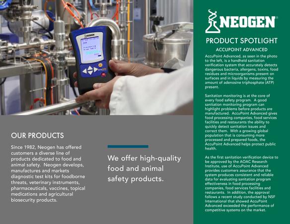 Graphic Design - Neogen Product Brochure
