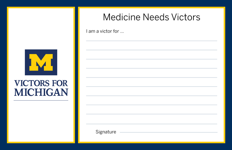 Graphic Design - The University of Michigan Health System Table Card