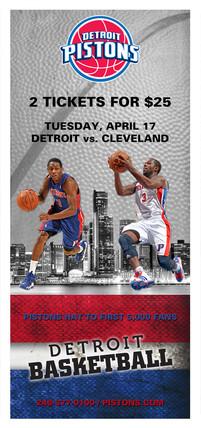 Graphic Design - Detroit Pistons Ad