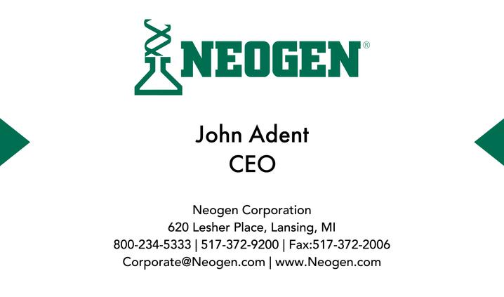 Graphic Design - Neogen Business Card (Back)