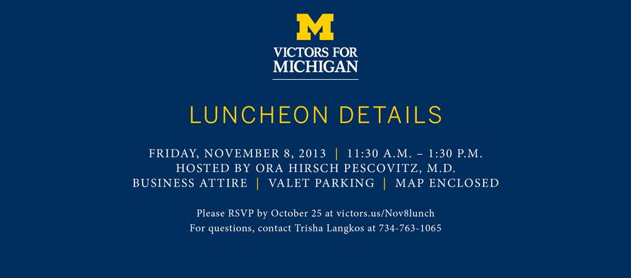 Graphic Design - University of Michigan Health System - November 8 Luncheon Invite (Page 4)