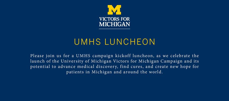 Graphic Design - University of Michigan Health System - November 8 Luncheon Invite (Page 2)