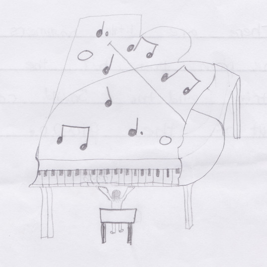 Piano Drawing #2 - Wells-next-the-Sea Primary School